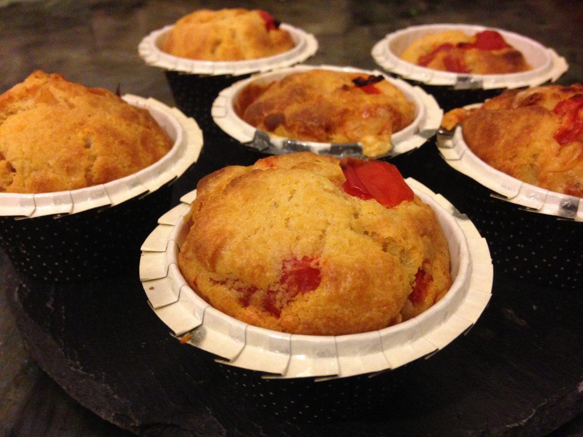 Muffins Tomate séchée et  Chorizo